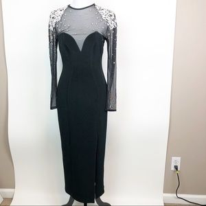 Vintage Tadashi Pearl Evening Gown